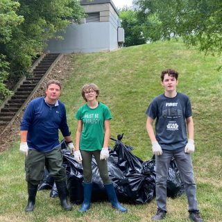 Most of the trash in the world's oceans arrives via rivers. Thanks to our volunteers who made sure this 17 bags of litter and plastics won't make it beyond the Scioto-Olentangy Confluence. Outdoors Pursuits models responsible enjoyment of the outdoors and environmental stewardship. Help us keep our rivers clean! Thanks for lunch @theboathouseoh. #keepohiobeautiful  #copandme#sciotoriver#greencolumbus #keepcolumbusbeautiful