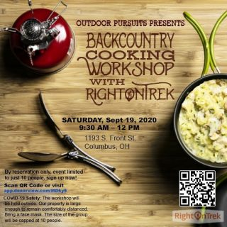 Join us for a fun workshop Saturday  morning. Check out the latest camping stoves and sample the yummy trail meals. Free coffee too!#copandme#rightontrek#jenningsjava