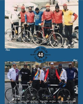 This photo was taken 40 years apart in the same location in Canal Winchester., OH. Join us Tue, March 9 as 4 long-time members of the Major Taylor Bike Club discuss the history of the organization and the challenges POC encounter cycling in Ohio. Register on our events calendar: outdoor-pursuits.org/events-calendar/#copandme#majortaylorcyclingclub